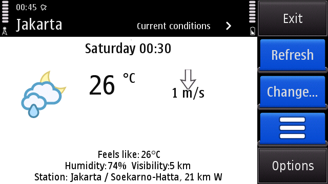 foreca weather curent condition